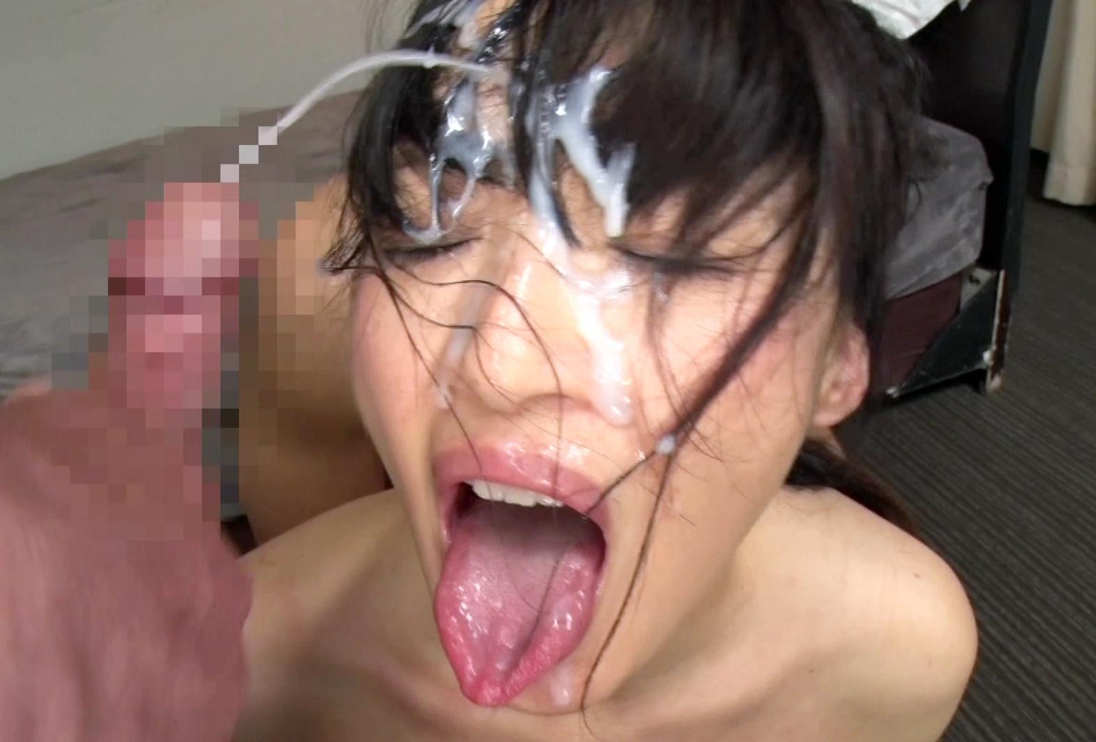 安野由美の舌出しブッカケ (3)