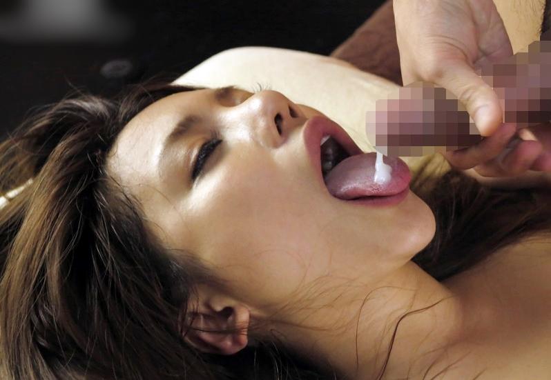 松本メイの舌射 (1)
