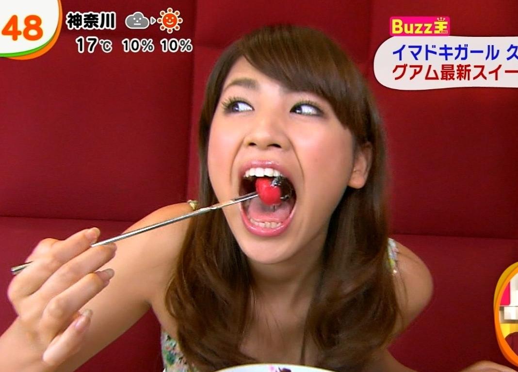 久松郁実の食事舌