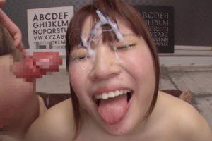 七草ちとせの舌出しブッカケ (4)