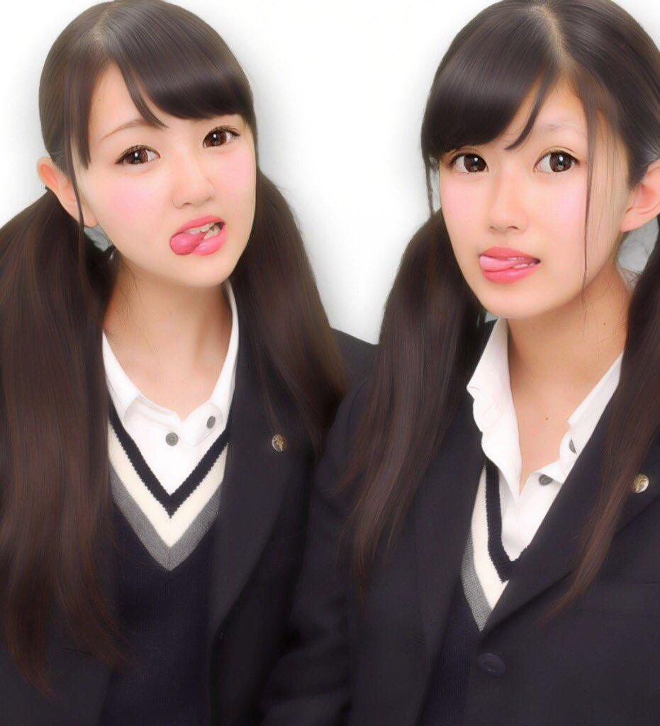 素人JKのダブル舌出し (4)