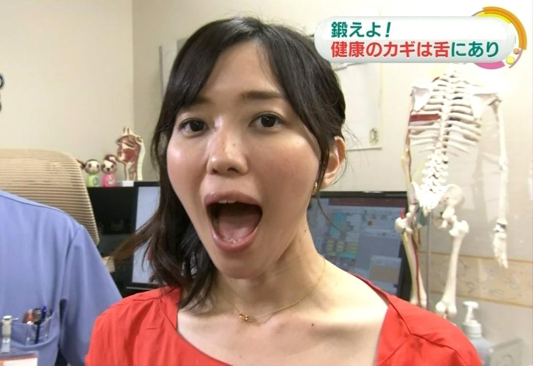中村慶子の舌出し (1)