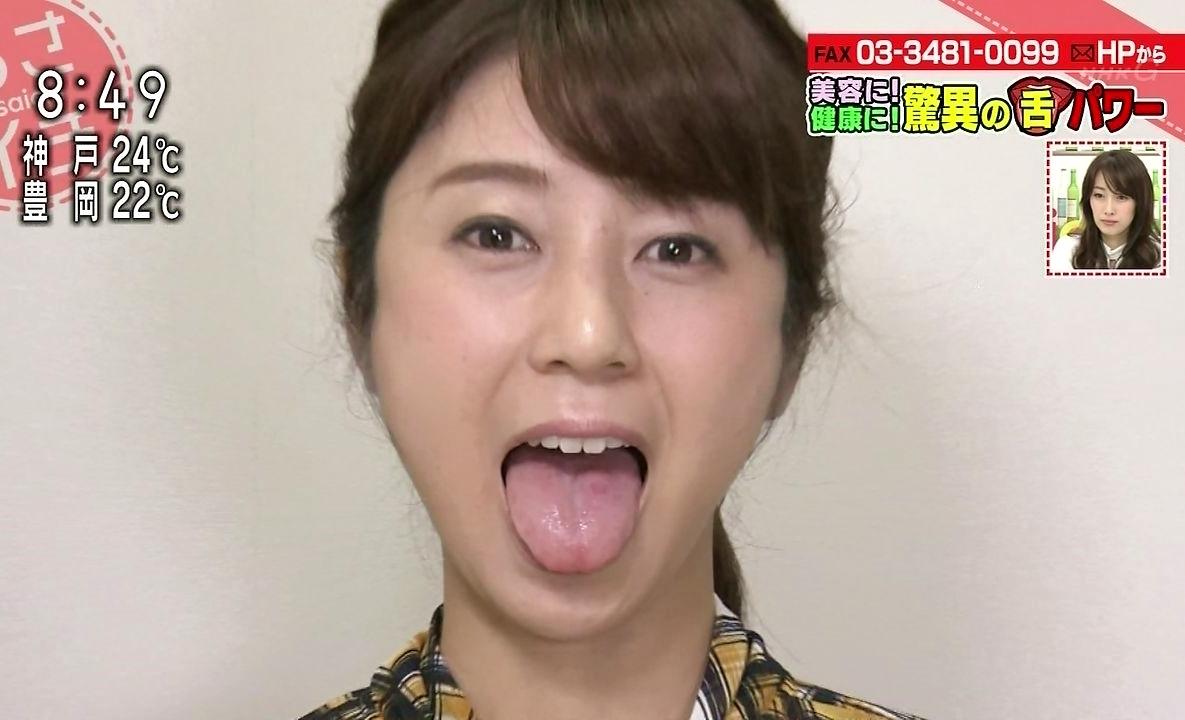 三輪秀香の舌出し2 (7)