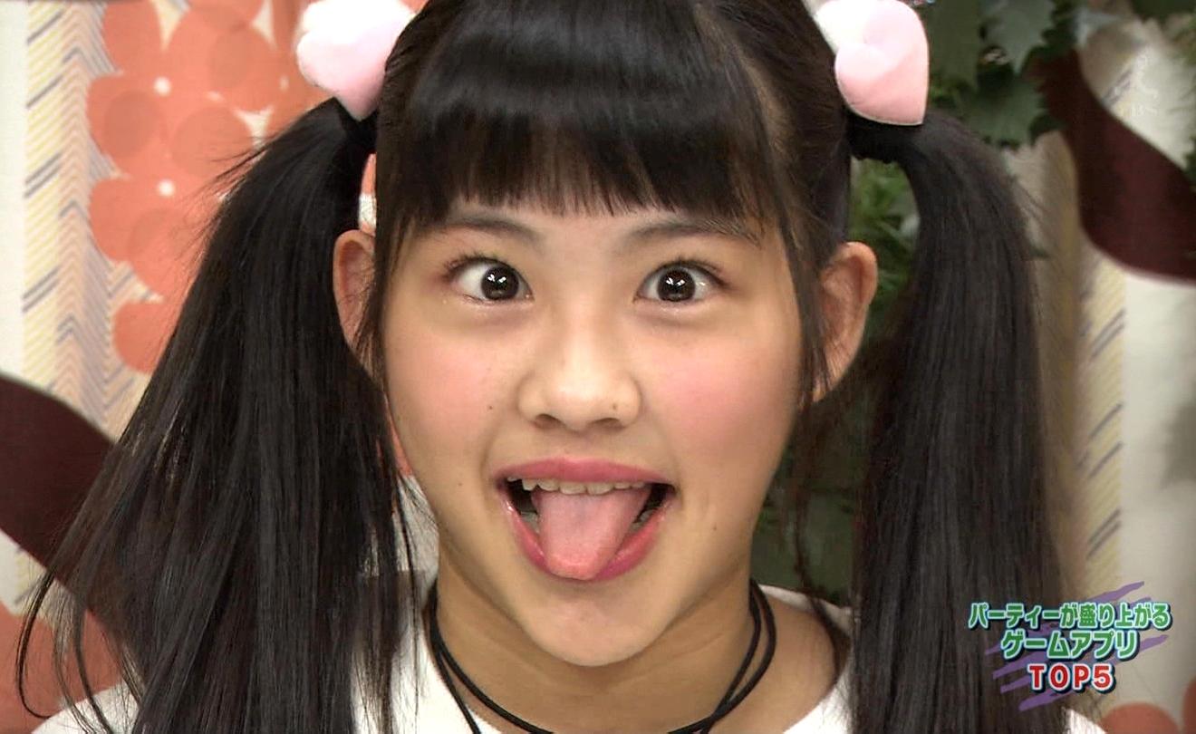 上水口姫香の変顔舌出し (2)