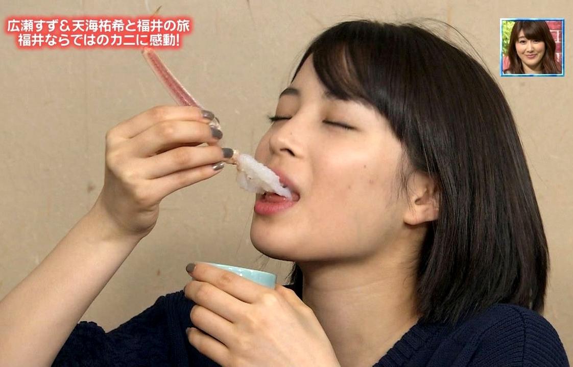 広瀬すずの疑似フェラ (14)