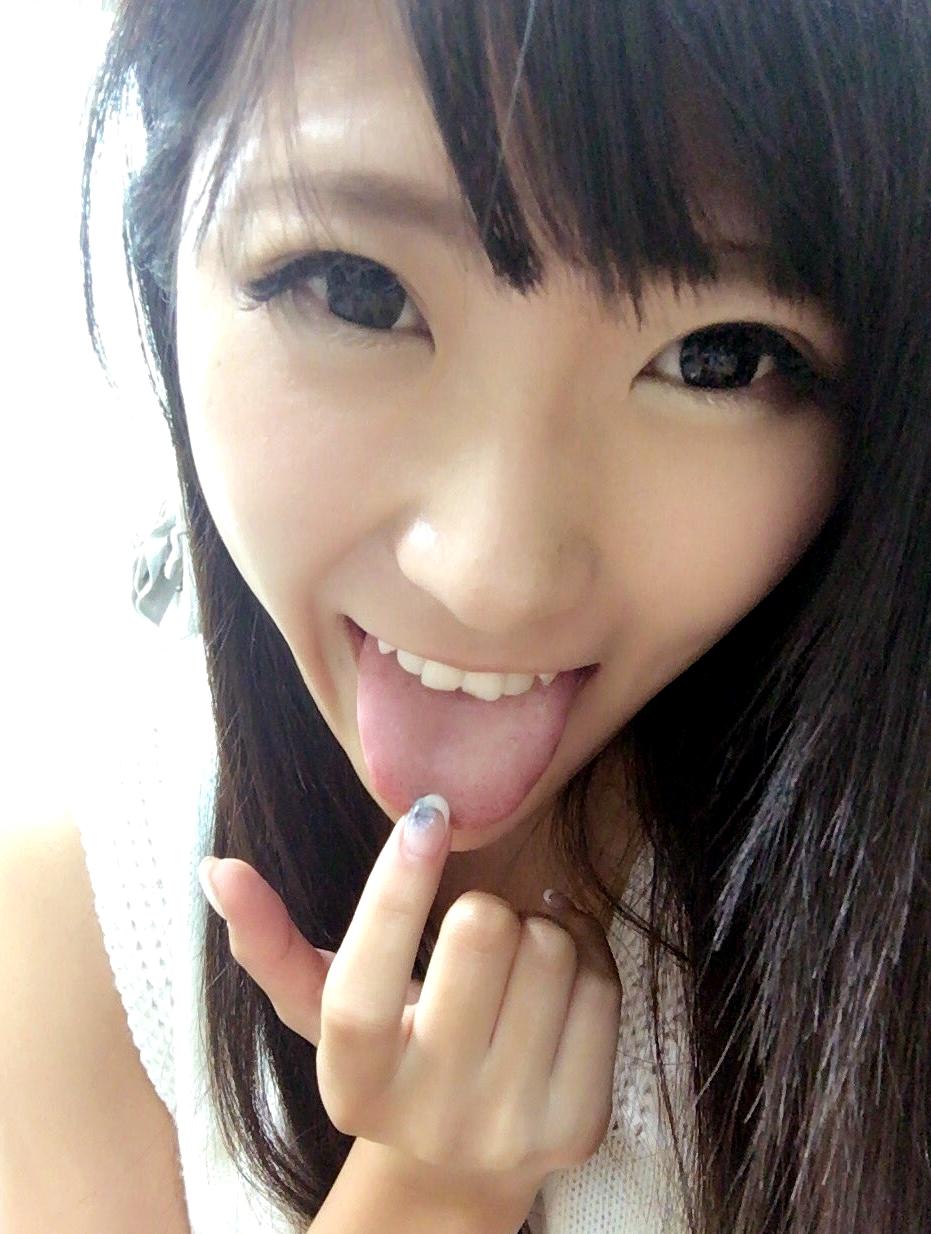 春川せせらの舌出し (6)