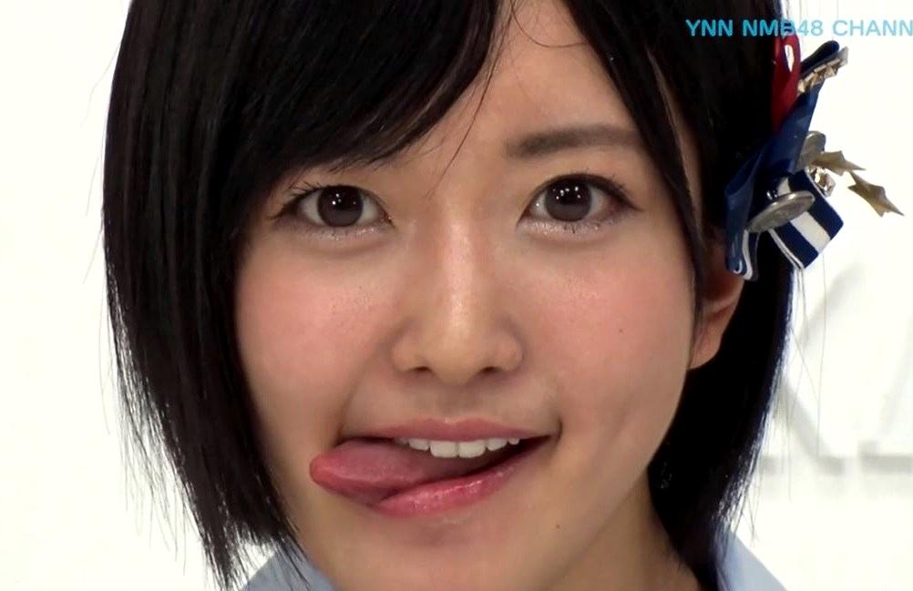 須藤凜々花の舌出し (3)