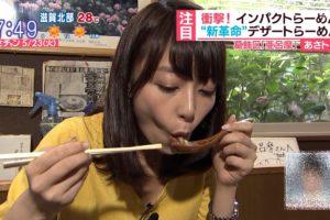 宇垣美里の疑似フェラ食事顔 (6)