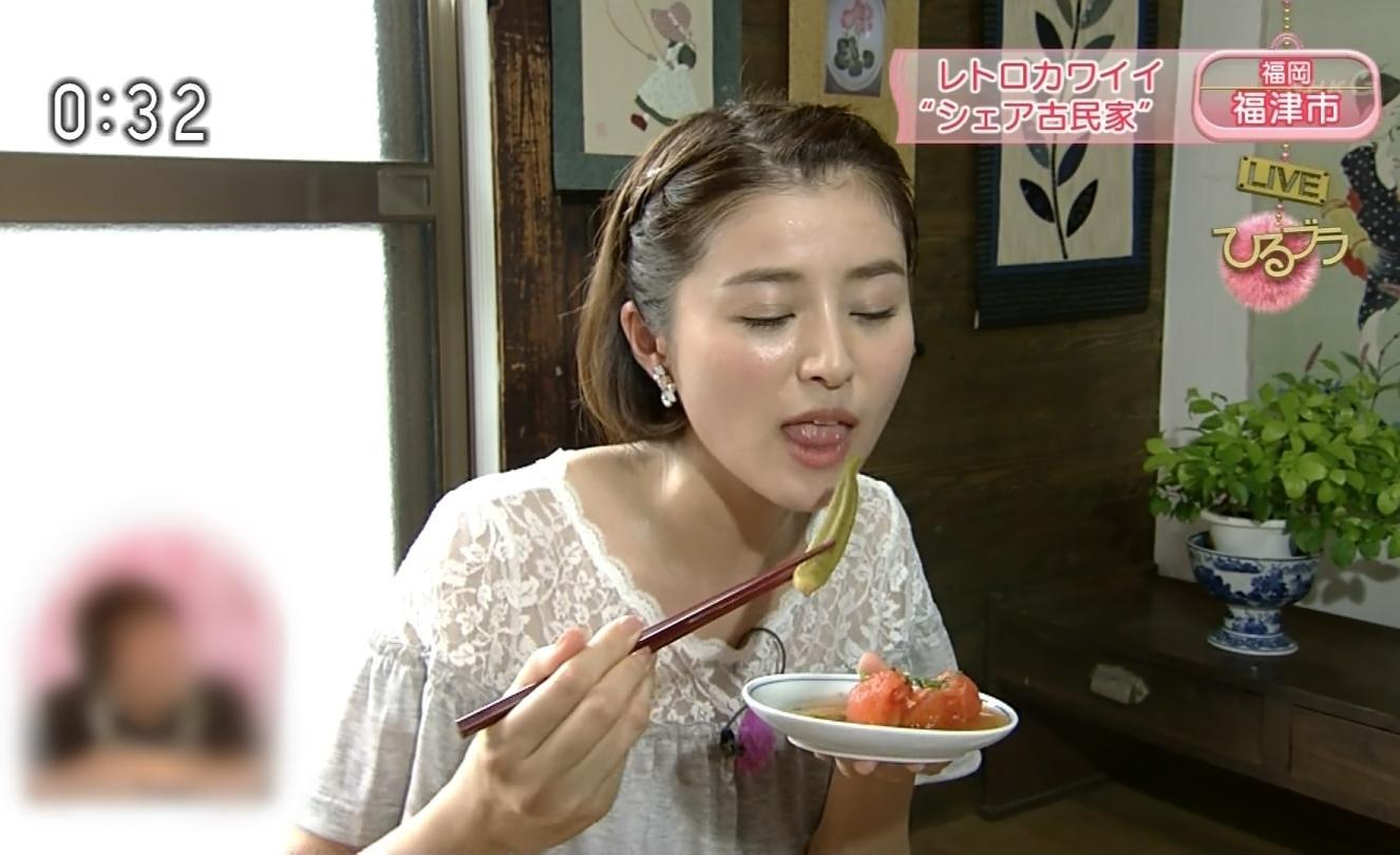鈴木ちなみの食事舌 (8)