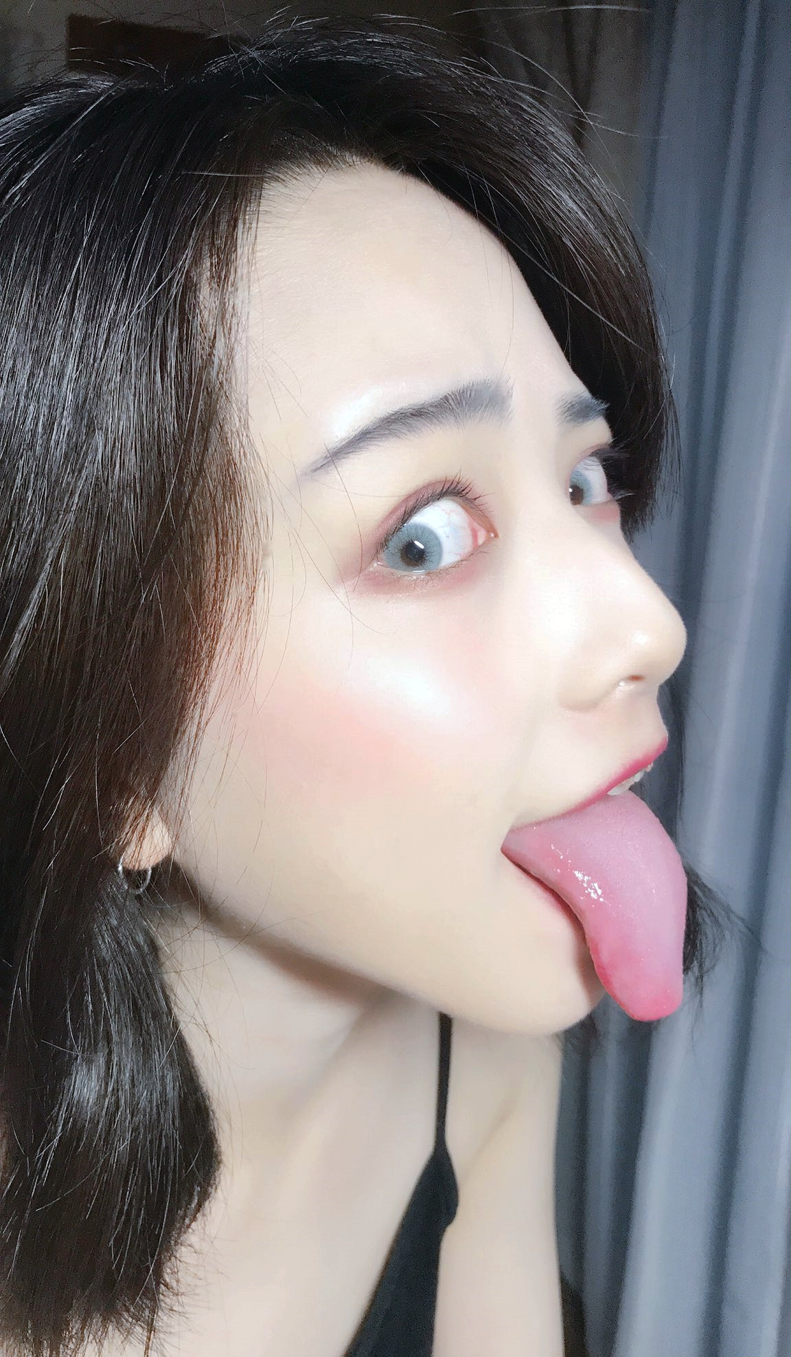 美人素人の自撮り長舌 (4)