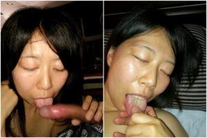素人性奴隷の汚舌