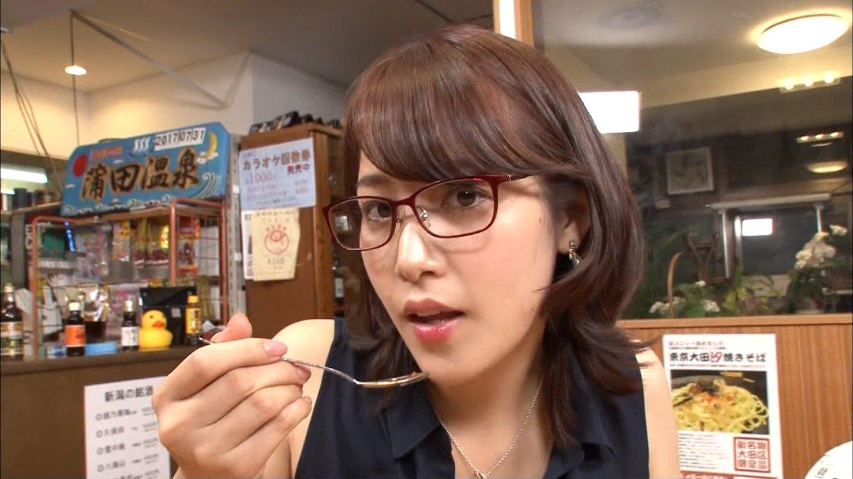 鷲見玲奈の食事顔2 (1)