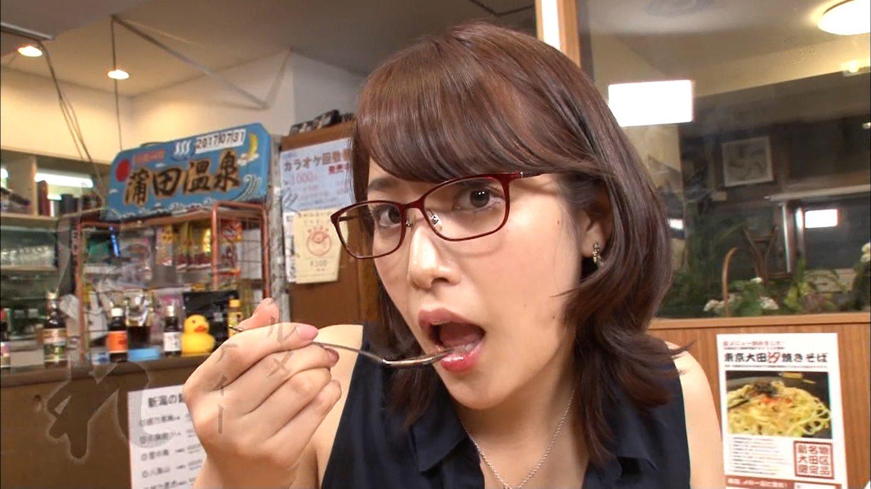 鷲見玲奈の食事顔2 (2)