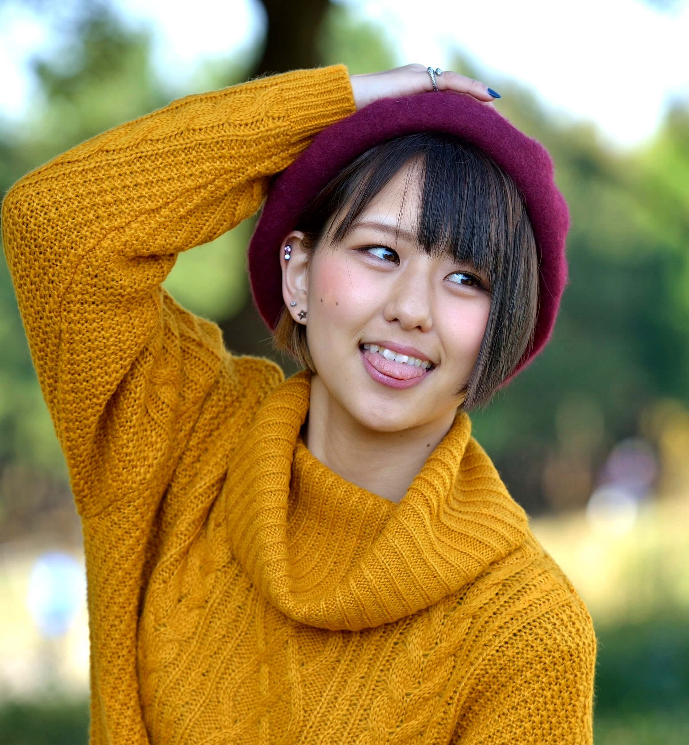 槙田あいりの舌出し撮影会 (17)