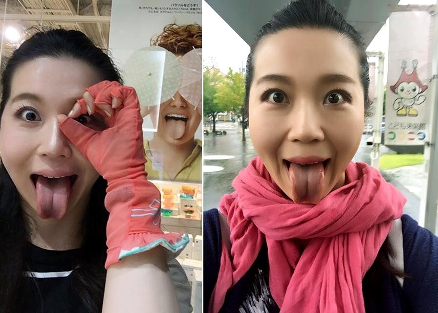 服部水希の舌出し (3)