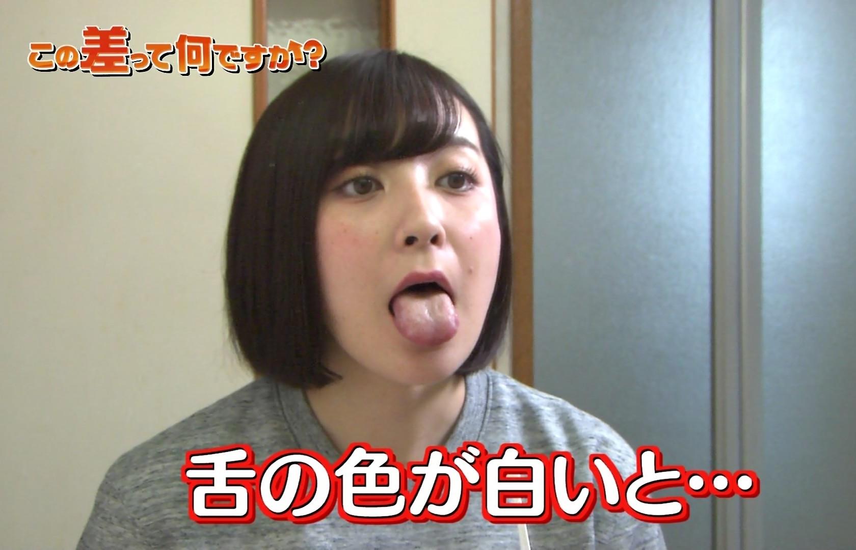 紺野栞の舌出し (1)