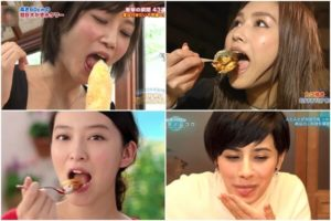 女性芸能人の食事舌&擬似フェラまとめVol.2