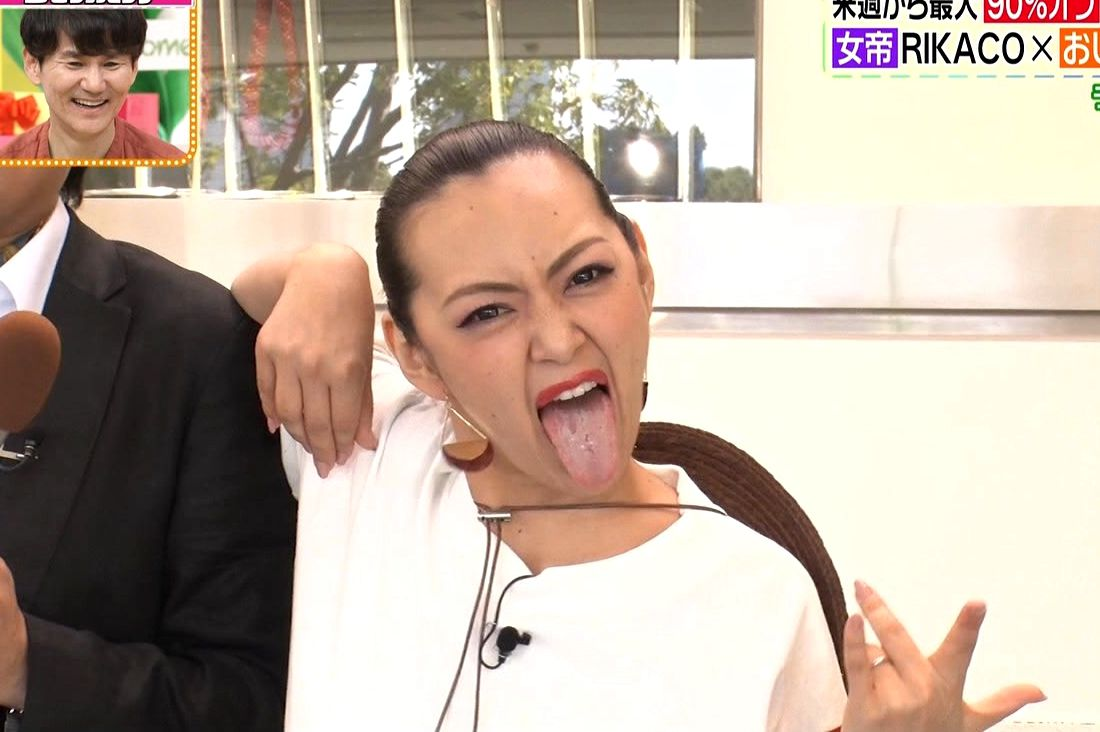 みかんの舌出し (1)