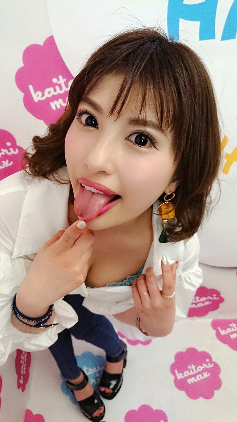 早川瑞希の舌出し (1)