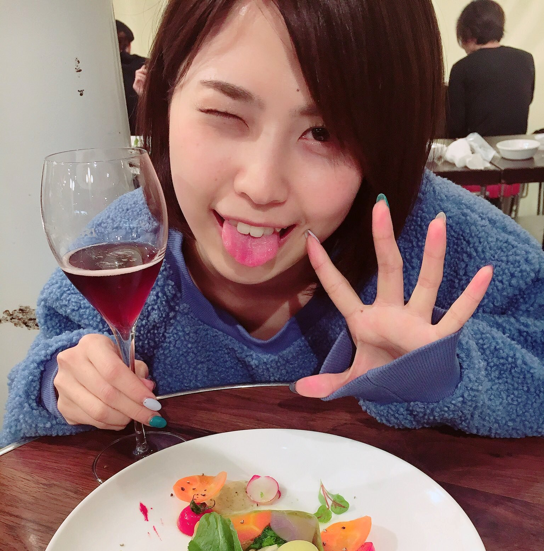 伏美亜里紗の舌出し (4)