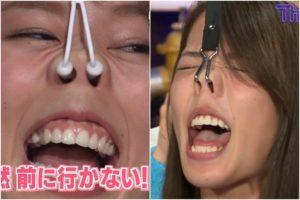稲村亜美・吉野七宝実の鼻フック舌見せ