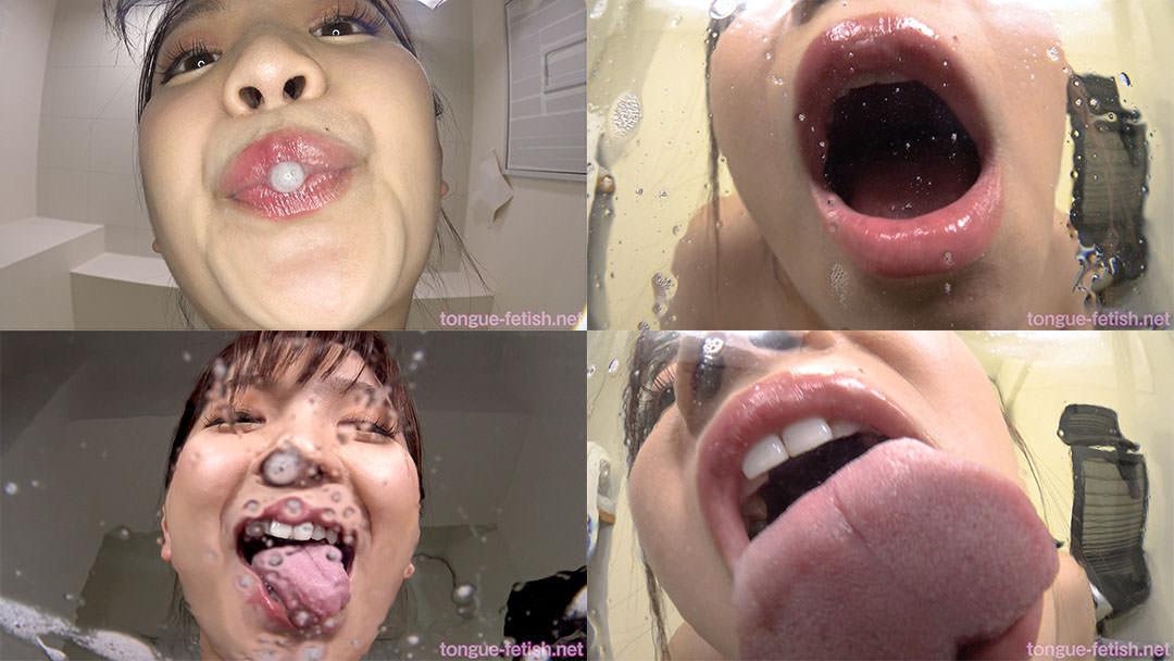 鈴木真夕のエロい舌・唾・口の臭い堪能コース1