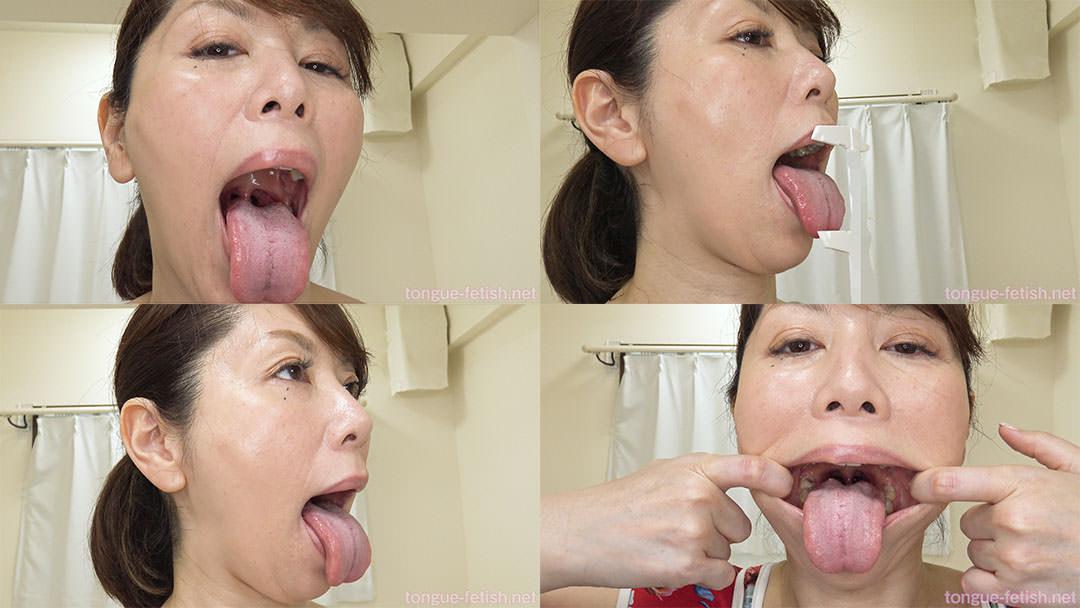 翔田千里のエロ長い舌と口内をじっくり観察