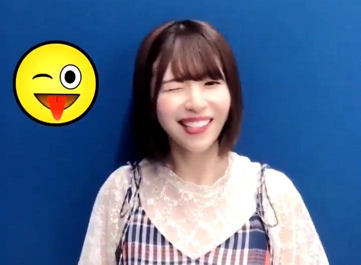 松田好花の舌出し (1)