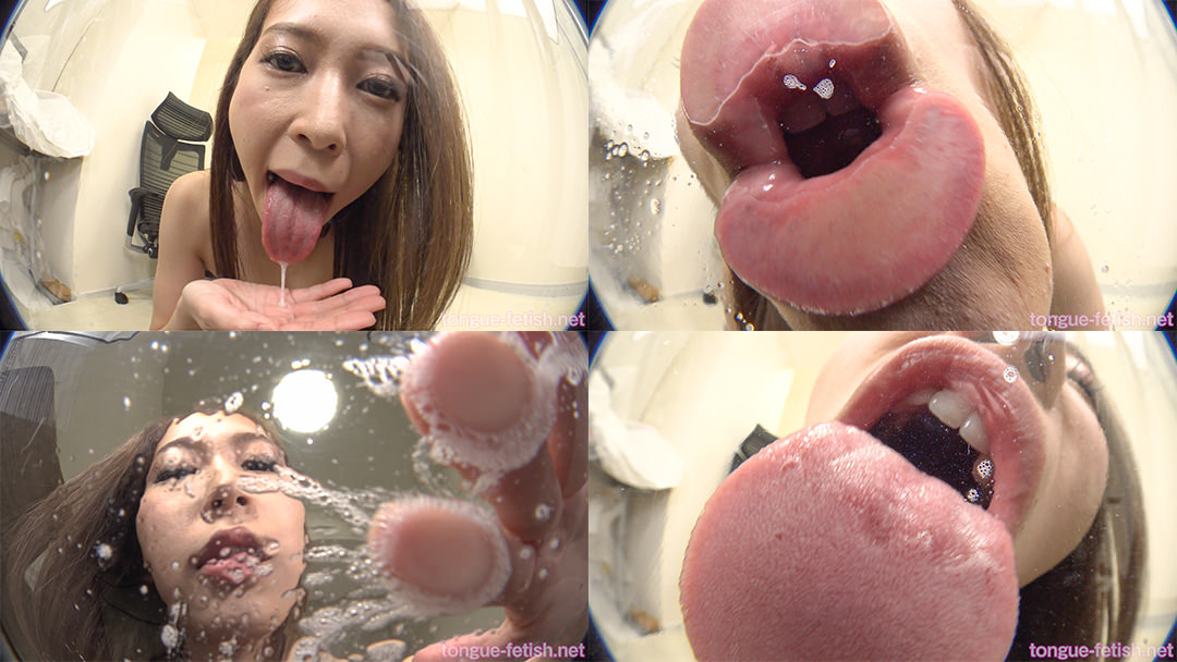 河北麻衣のエロ長い舌・唾・口の臭い堪能コース1