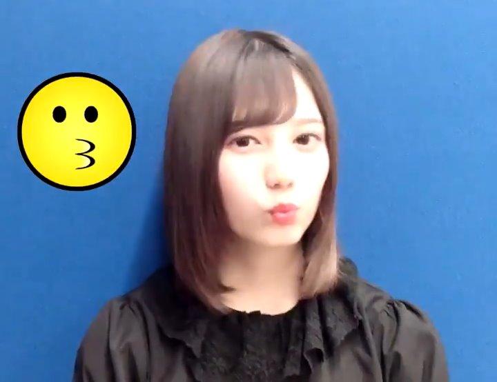 小坂菜緒のキス顔