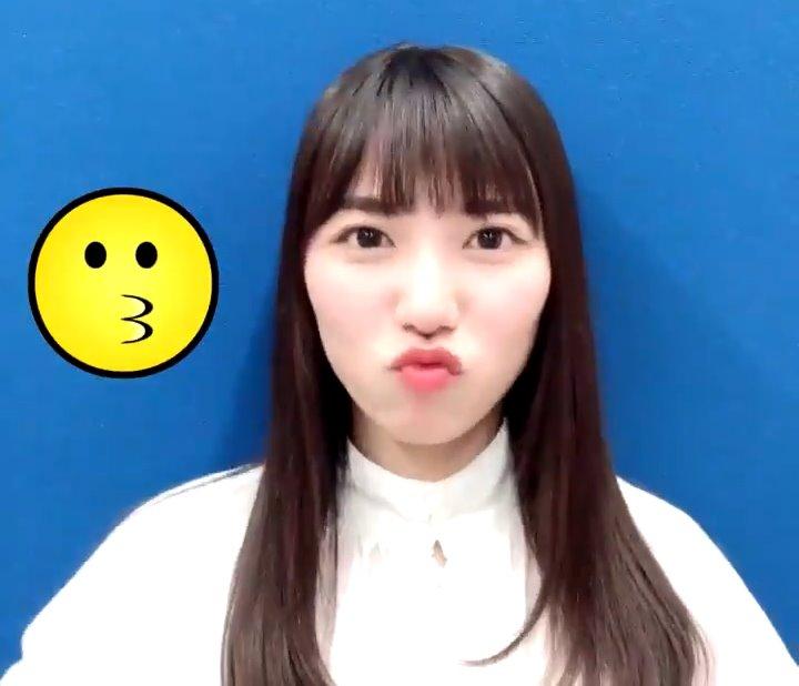 河田陽菜のキス顔