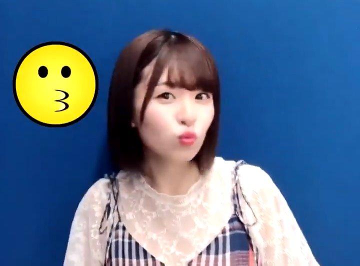 松田好花のキス顔