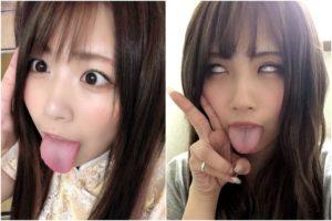 熊田くまの舌出し