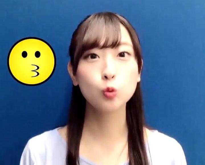 井口眞緒のキス顔