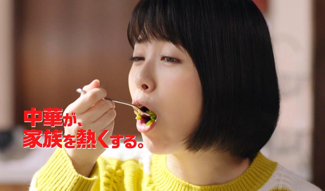 浜辺美波の食事舌 (10)