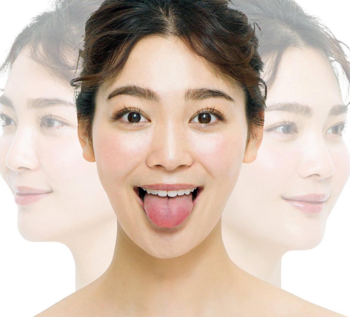 福吉真璃奈の顔ヨガ舌 (3)