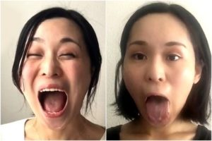 YUKO(吉田由布子)のぽってりトロ舌