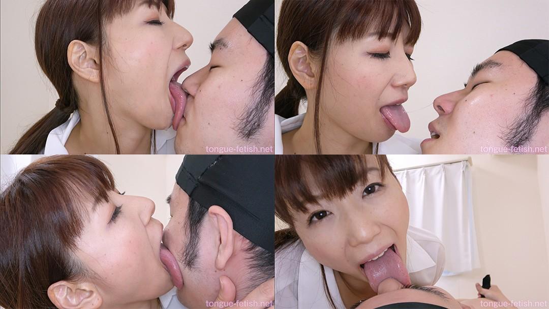 加藤あやののエロ長い舌でリクエスト顔舐め