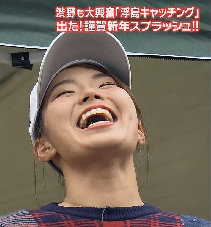 渋野日向子の唾糸舌見せ (2)