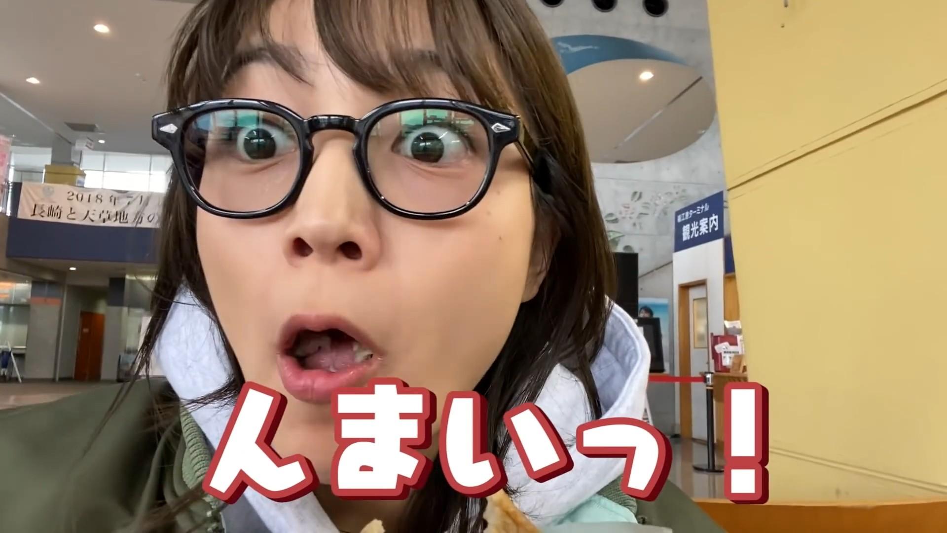 川口春奈の食事舌 (8)
