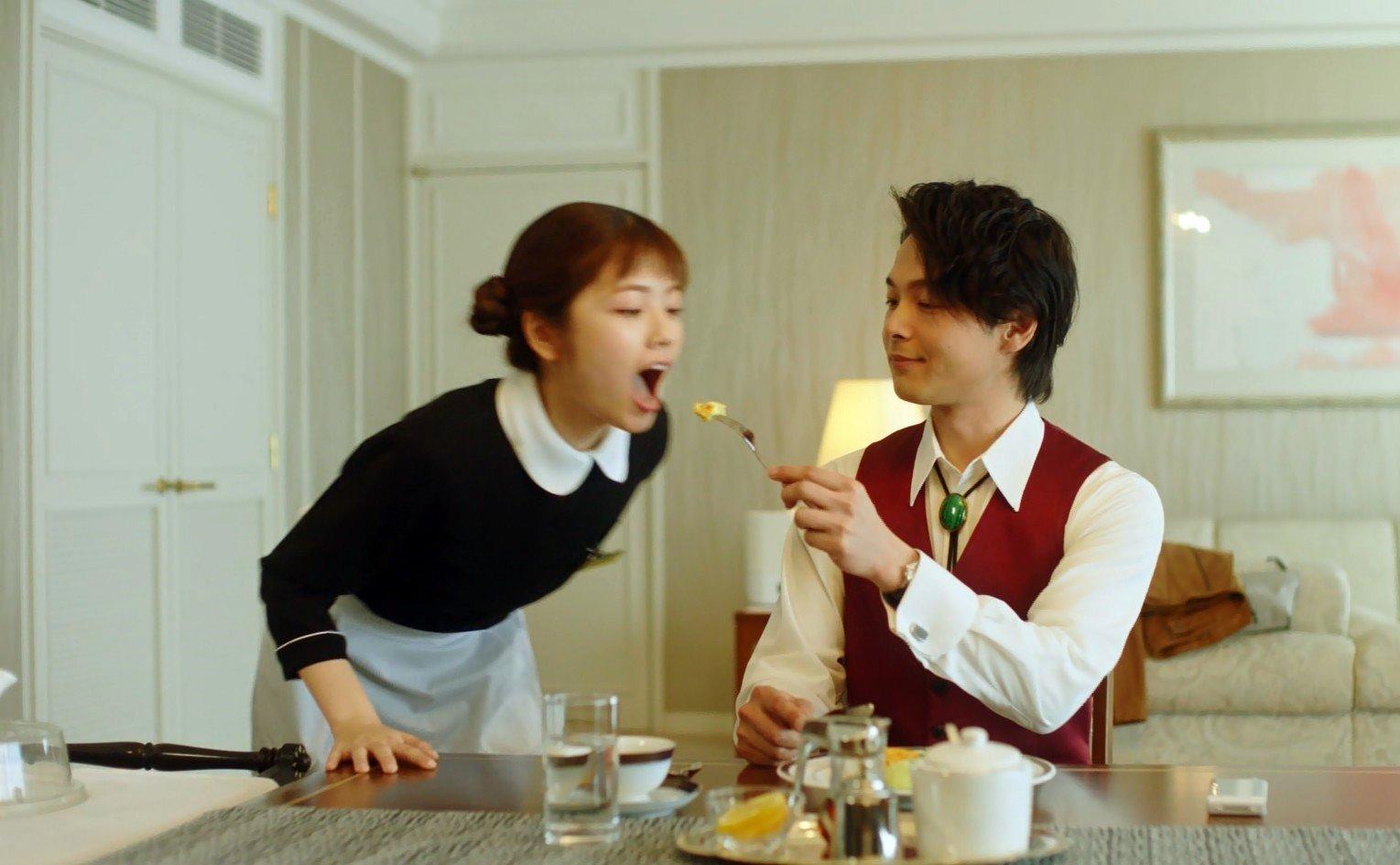 小芝風花の食事顔 (2)
