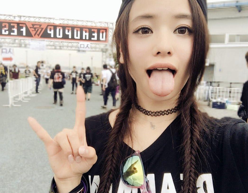 田中紗貴の幅広デカ舌 (31)