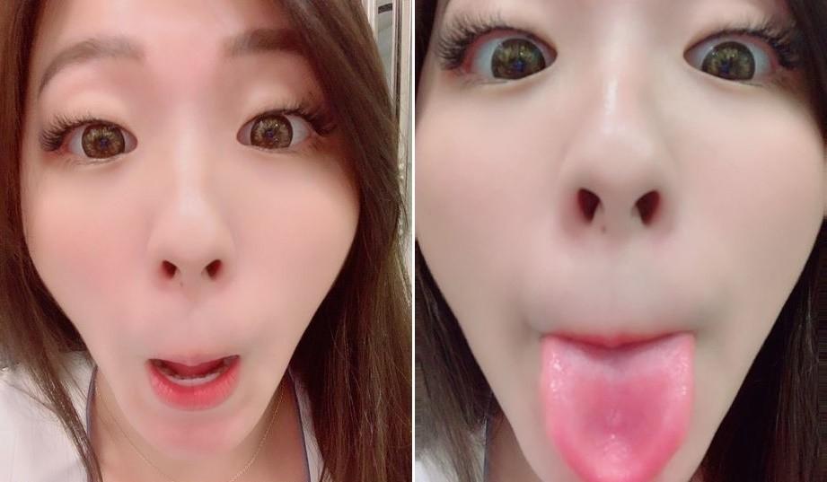中国美女の長トロ舌 (4)