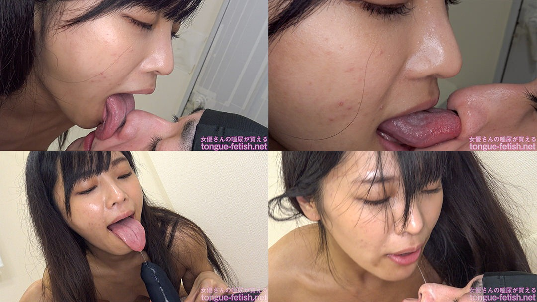 久留木玲のエロ長い舌でたっぷり顔舐め鼻舐め&手コキプレイ