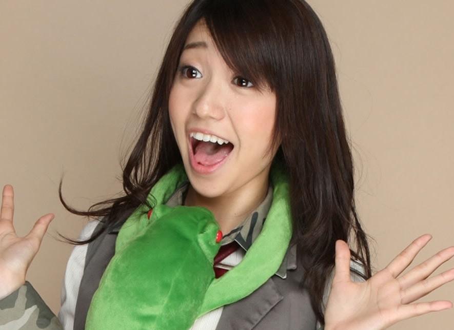 大島優子の開口舌見せ (1)