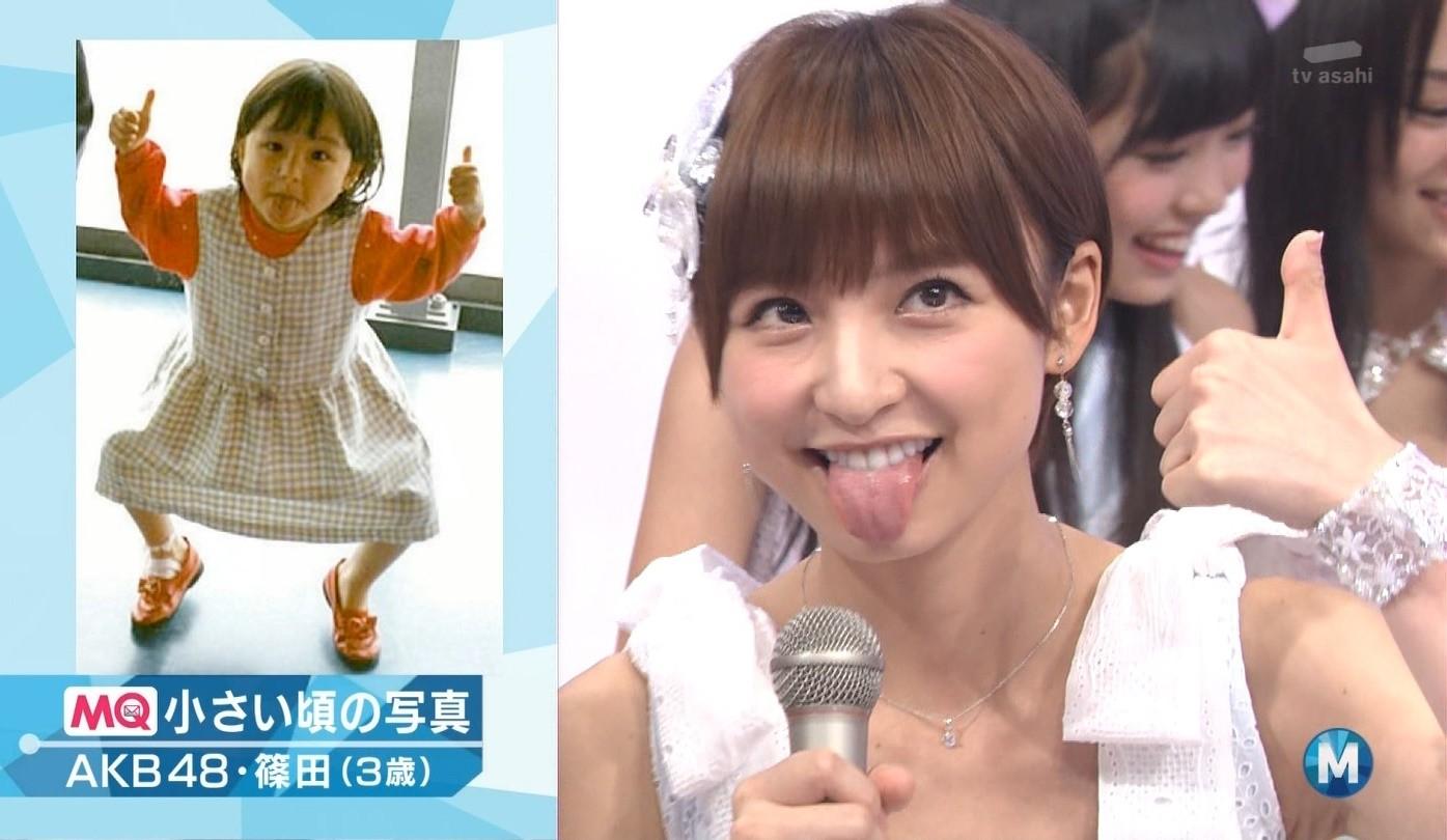 篠田麻里子の舌出し (8)