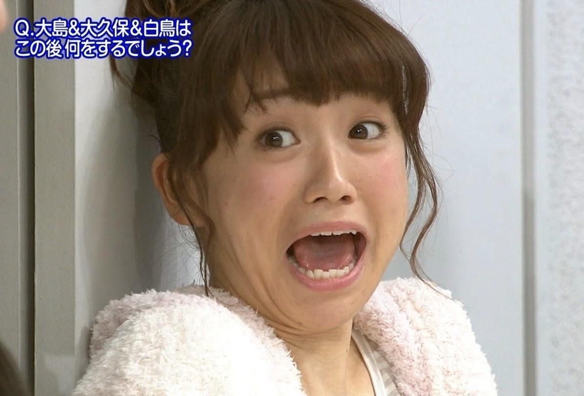 大島優子の開口舌見せ (4)