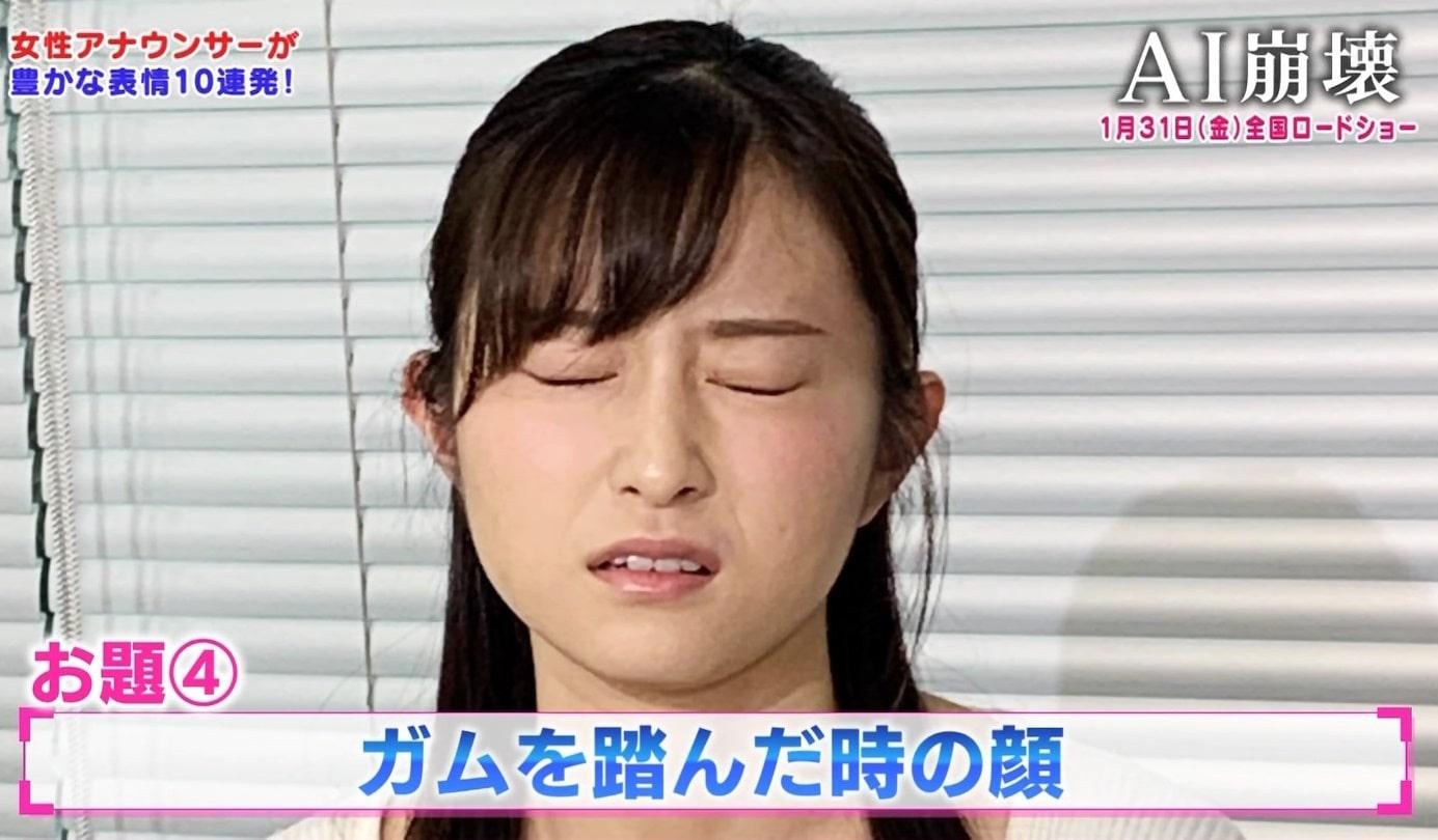 佐藤佳奈の変顔舌出し (4)