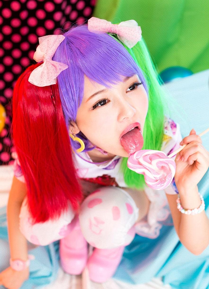 跡美しゅりの舌出しフェラ2 (4)