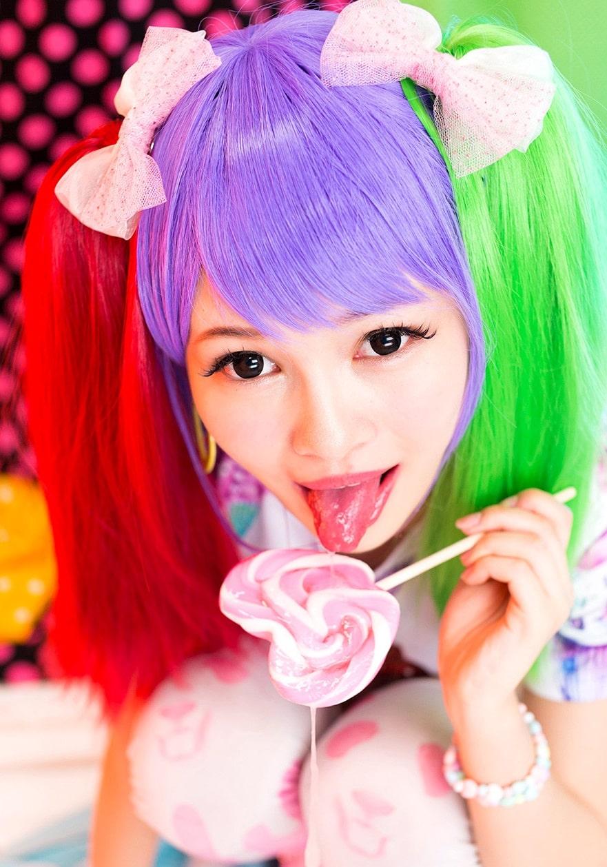 跡美しゅりの舌出しフェラ2 (5)